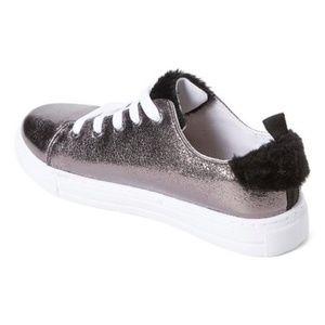 Shoes - Pewter & Black Shimmer Sneaker